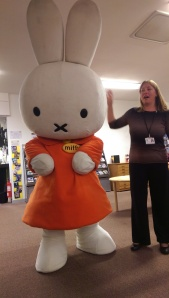 Miffy making her entrance!