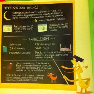 Professor Duck's lesson